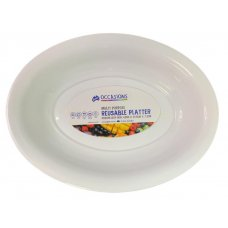 Platter Bowl PP 43x32.5x7.2cm White Medium Ctn24