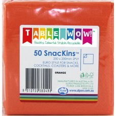 Orange SnacKins 20x20cm 2ply P50