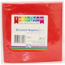Red Lunch Napkin 33x33cm 2ply P50
