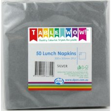 Silver Lunch Napkin 33x33cm 2ply P50