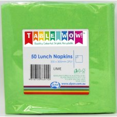 Lime Lunch Napkin 33x33cm 2ply P50