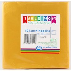 Yellow Lunch Napkin 33x33cm 2ply P50