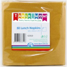 Gold Lunch Napkin 33x33cm 2ply P50