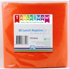 Orange Lunch Napkin 30x30cm 2ply P50