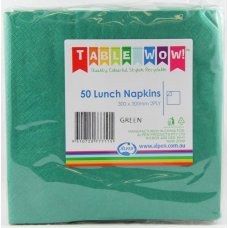Green Lunch Napkin 30x30cm 2ply P50