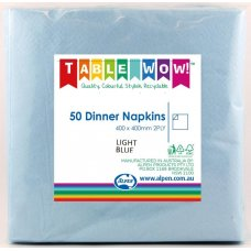Light Blue Dinner Napkin 40x40cm 2ply P50