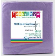 Lavender Dinner Napkin 40x40cm 2ply P50