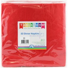 Red Dinner Napkin 40x40cm 2ply P50