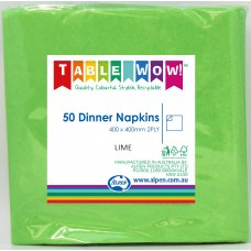 Lime Dinner Napkin 40x40cm 2ply P50