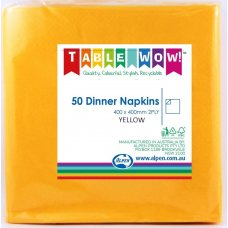 Yellow Dinner Napkin 40x40cm 2ply P50