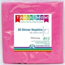Magenta Dinner Napkin 40x40cm 2ply P50
