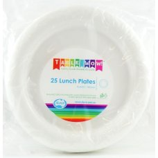 White Lunch Plate P25