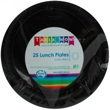 Black Lunch Plate P25