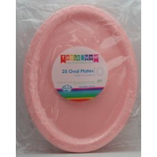 Light Pink Oval Plate P25