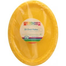 Yellow Oval Plate P25