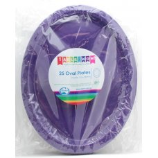 Purple Oval Plate P25