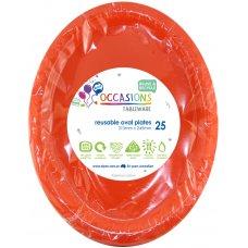 Orange Oval Plate P25