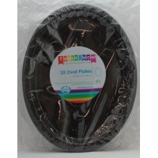 Black Oval Plate P25