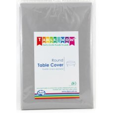 Silver Round Tablecover P1