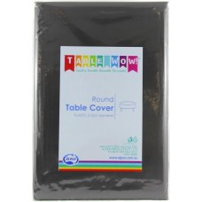 Black Round Tablecover P1