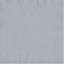 Shimmer Silver 3ply Lunch Napkin (105805) P20x12