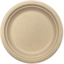 Sugarcane Lunch Plates 180mm Natural P10x10
