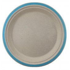 Sugarcane Lunch Plates 180mm Light Blue P10x10