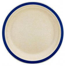 Sugarcane Lunch Plates 180mm Royal Blue P10x10