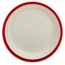 Sugarcane Lunch Plates 180mm Red P10x10