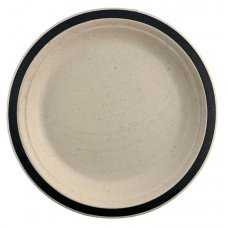 Sugarcane Lunch Plates 180mm Black P10x10