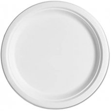 Sugarcane Lunch Plates 180mm White P10x10