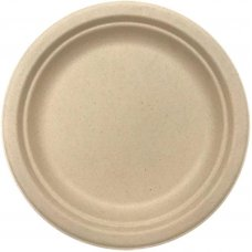 Sugarcane Dinner Plates 230mm Natural P10x10