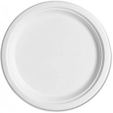 Sugarcane Dinner Plates 230mm White P10x10