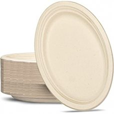 Sugarcane Oval Plates 325x260mm Natural P50x5