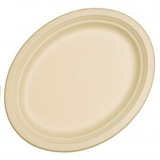 Sugarcane Oval Plates 325x260mm Natural P10x10