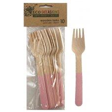 Wooden Forks Light Pink P10x10
