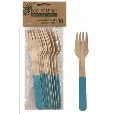 Wooden Forks Light Blue P10x10