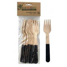Wooden Forks Black P10x10