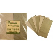 Napkins Lunch 1/8 fold Metallic Gold & Kraft P20x10