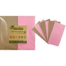 Napkins Lunch 1/8 fold Light Pink & Kraft P20x10