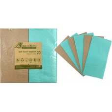 Napkins Lunch 1/8 fold Mint & Kraft P20x10