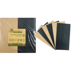 Napkins Lunch 1/8 fold Black & Kraft P20x10