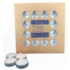 Lume Tealight Candles 4 Hour Box 50 x 10 Ctn 500