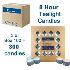 Lume Tealight Candles 8 Hour Box 100 x 3 Ctn 300