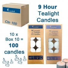 Lume Tealight Candles 9 Hour Box 10 Inner 10