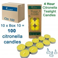 Tealight Candles Citronella Retail Box 10 Inner 10