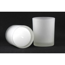 Glass Candle Holder Votive 65mm Frosted Box 12