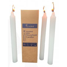 Lume Household Economy Candles 200x21mm White Box6 Inner 10