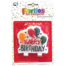 SPECIAL ! Birthday Banner Candle2 Assorted Designs P1