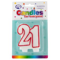# 21 (Red & White) Candle P1